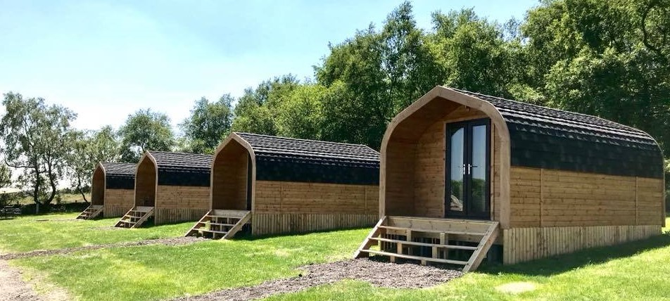 Glamping camping family Derbyshire short break camping cabins