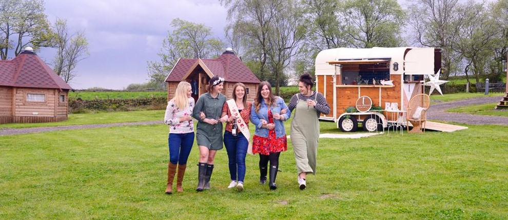 Glamping Hen Party Derbyshire Camping family